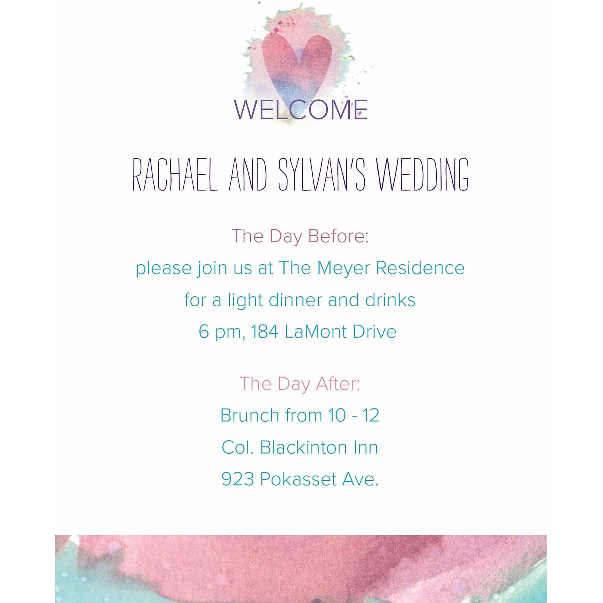 Ombre Hearts Standard All Purpose Card