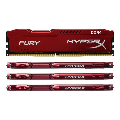 Kingston Technology HyperX FURY Red 64GB 2933MHz DDR4 CL17 DIMM(Kit of 4) HX429C17FRK4 64 by Kingston