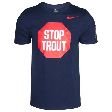 - Nike Men's MLB Stop Trout Angels T-Shirt-Navy