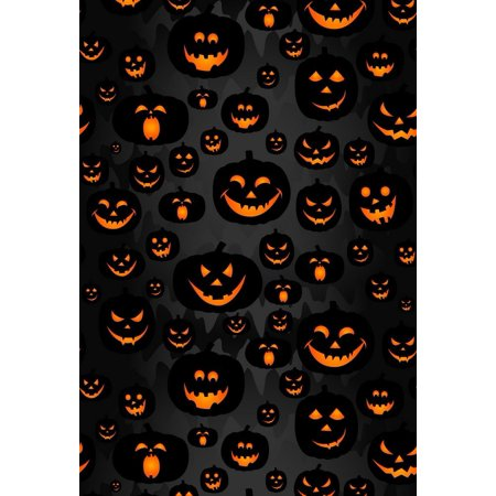 GreenDecor Polyster 5x7ft Halloween Scary Pumpkins Lamps Photography Backdrops Indoor Studio Backgrounds Photo - Scary Halloween Photography