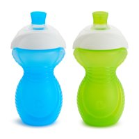 Munchkin Click Lock Bite Proof Sippy Cup, 9 Ounce, Blue/Green, 2 Pack