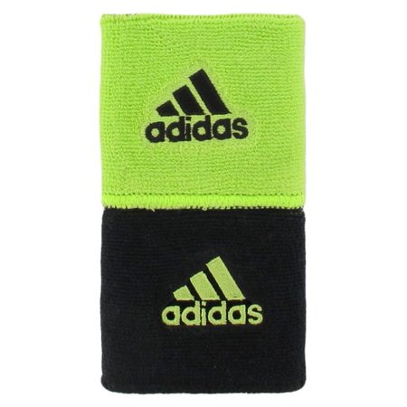Adidas Black Wristband (Adidas Interval Reversible Wristband - Lime Green,Black)