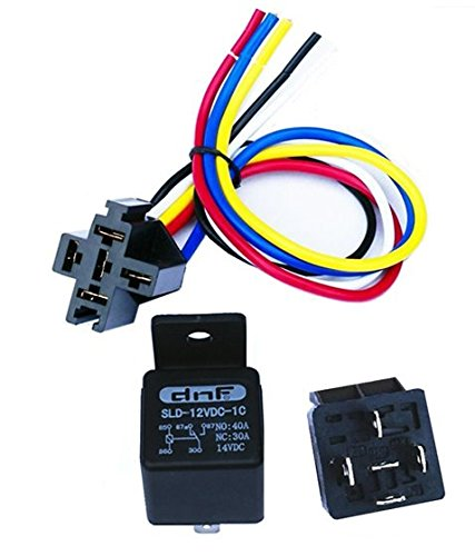 dnf (5 pack) 30 40 amp 5 pin spdt automotive relay with wires 30 amp wiring diagram dnf (5 pack) 30 40 amp 5 pin spdt automotive relay with wires