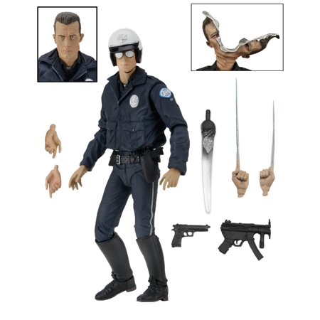 """Terminator 2 - 7"""" Scale Action Figure - Ultimate T-1000 (Motorcycle Cop)"""