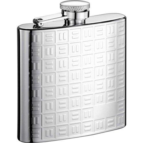 Visol VF2020 Domino Stainless Steel 8oz Hip Flask