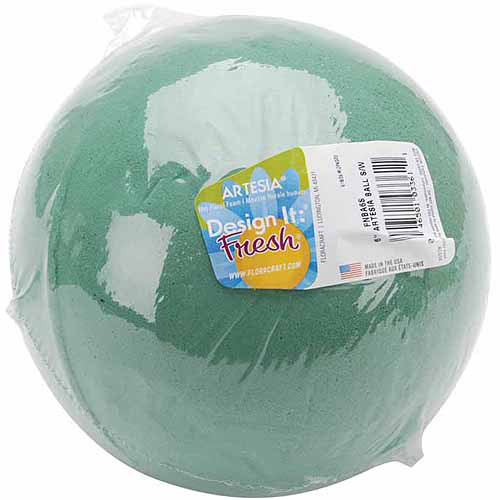 Floracraft Wet Foam Ball, Green