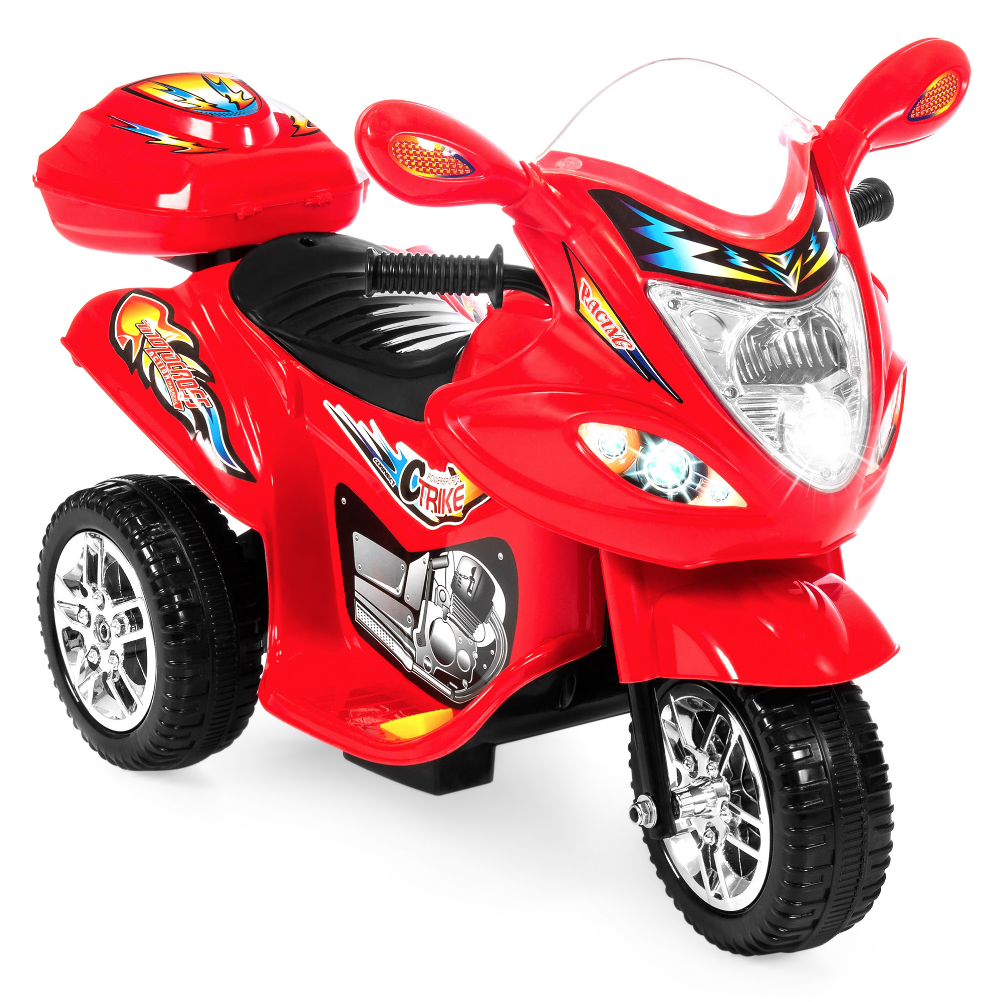 Best Choice Products 6V Kids Battery Powered Electric 3-Wheel Motorcycle Bike Ride-On...