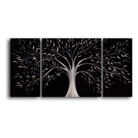 Moonlit Gothic Tree 3 Piece Handmade Metal Wall Art 40w X
