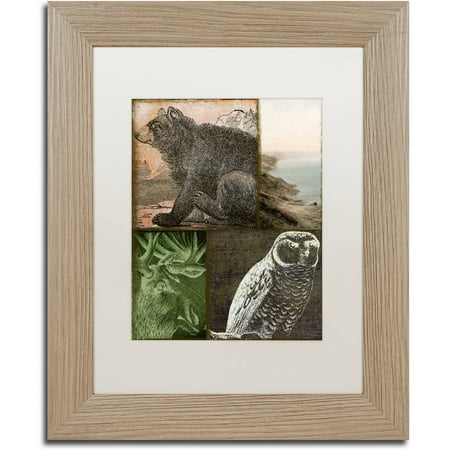 Trademark Fine Art  Cabela Iii  Canvas Art By Color Bakery White Matte  Birch Frame