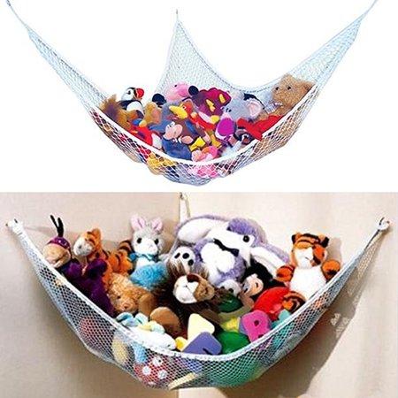 - Moderna Hanging Toy Corner Hammock Net Organizer Stuffed Animals Dolls Storage Bag