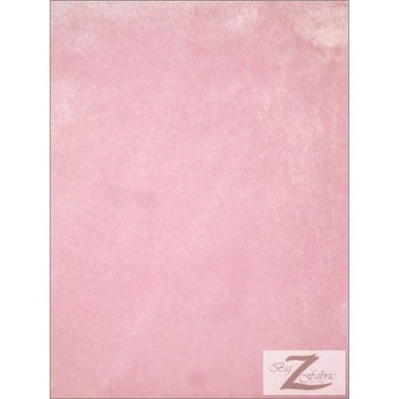 Short Sleeve Material (Velboa Faux Fake Fur Solid Short Pile Fabric / Pink / Sold By The Yard)