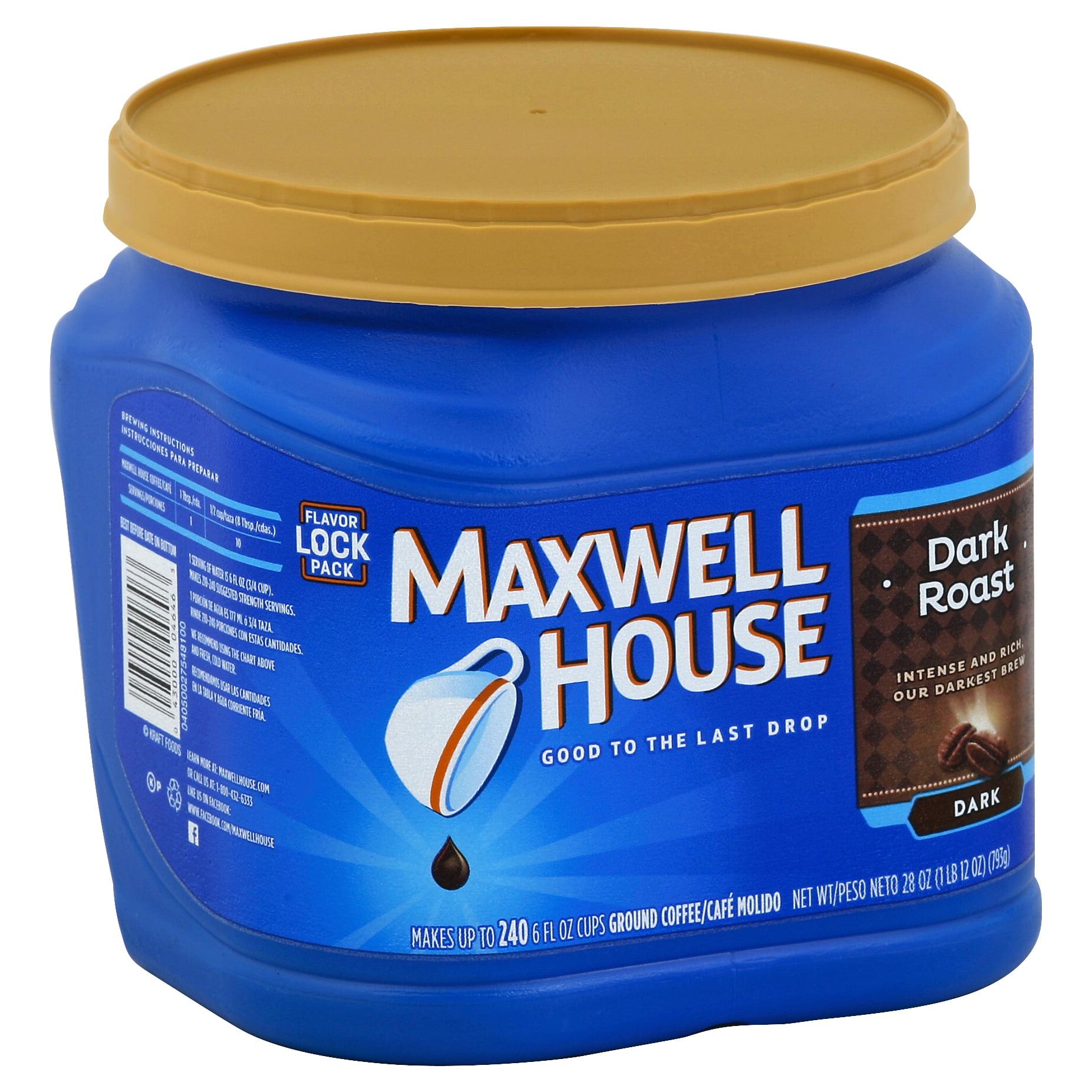 Maxwell House Dark Roast Ground Coffee, 28 oz