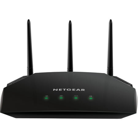 Netgear AC1750 Smart WiFi Router - 802.11 AC Dual Band Gigabit - Black (R6350-100NAS)