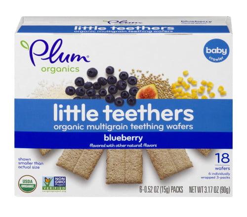 Plum Organics Little Teethers Blueberry, 0.52oz (Pack of 6)