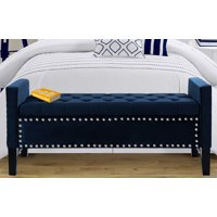 Chic Home Harvey Neo Traditional Velvet Tufted Storage Bench