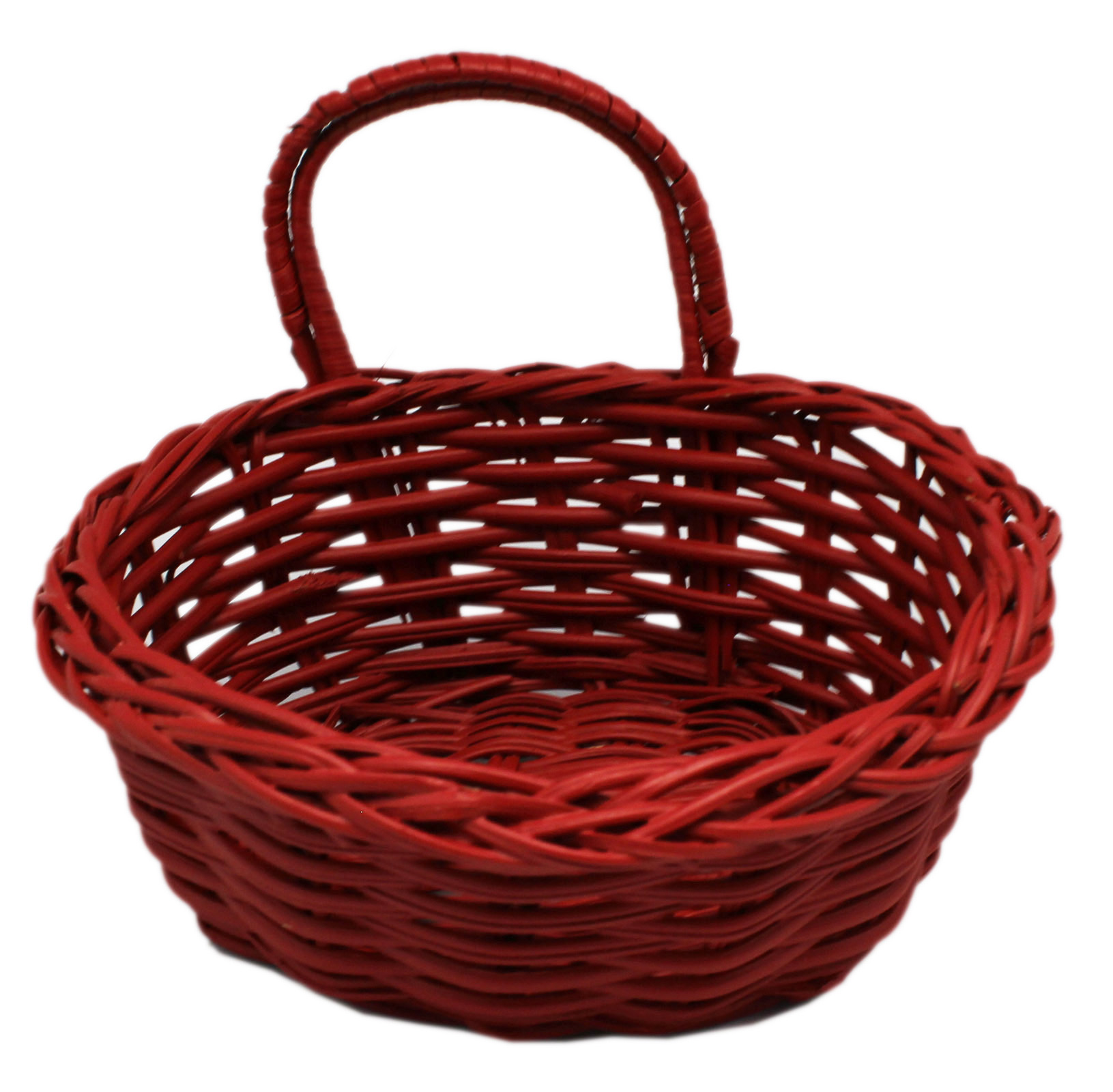 Small Red Colored Decorative Wicker Basket