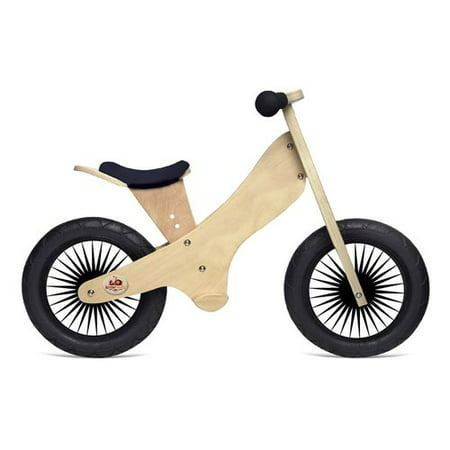 - Kinderfeets Retro Wooden Balance Bike, Natural