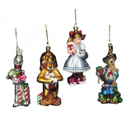 kurt adler noble gems wizard of oz christmas ornament set of 4 - Kurt Adler Christmas