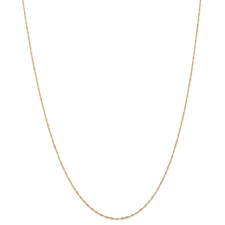 Indian Gold Jewelry - ICE CARATS 14kt Yellow Gold 1mm Link Singapore Chain Necklace 18 Inch Pendant Charm Fine Jewelry Ideal Gifts For Women Gift Set From Heart