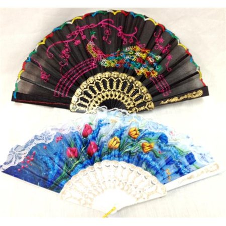 Bulk Buys Wholesale Fans Assorted Colors - Case of 120 - Buy In Bulk Wholesale