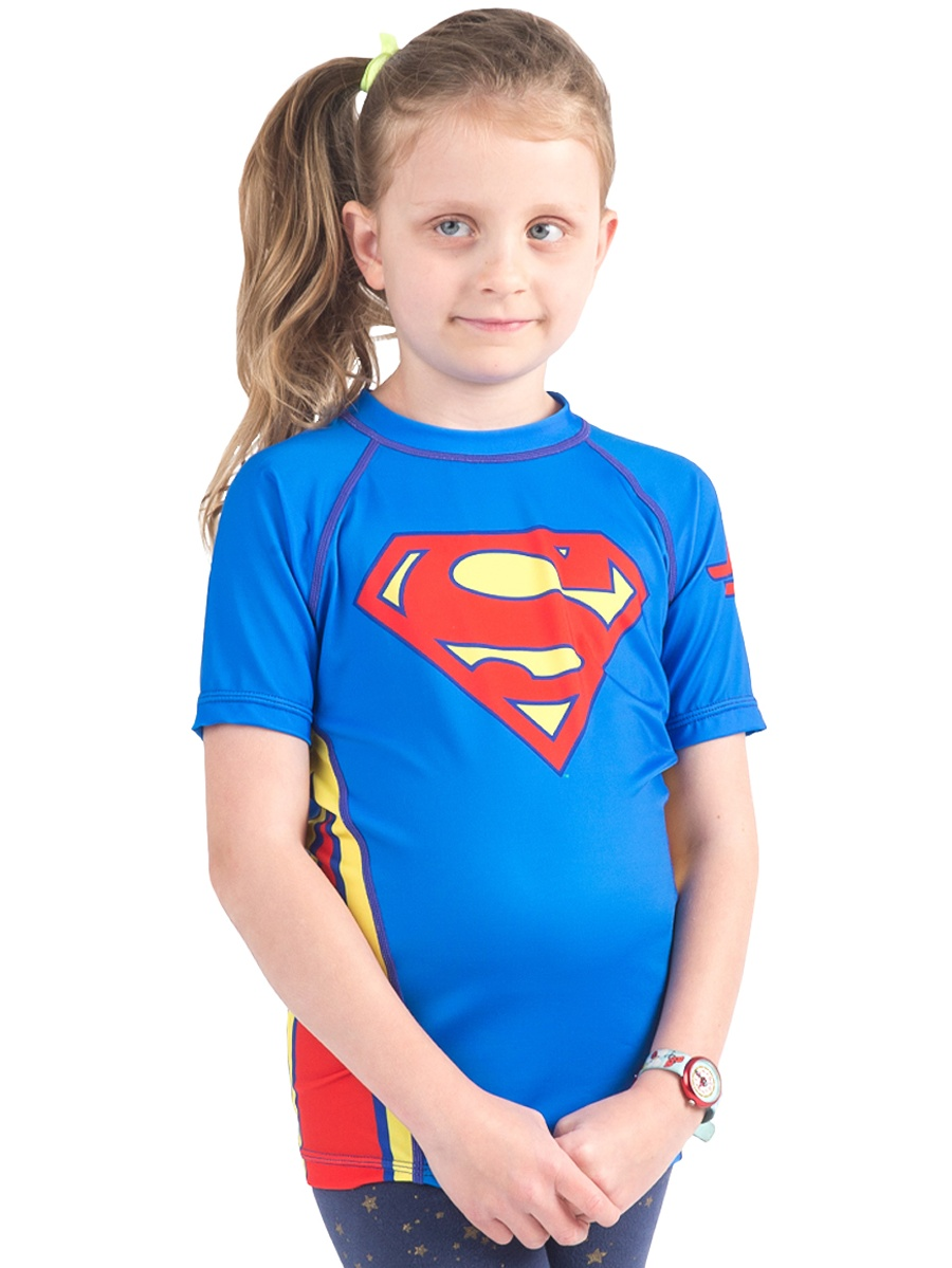 Fusion Fight Gear Kid's Superman Logo Short Sleeve Rashguard