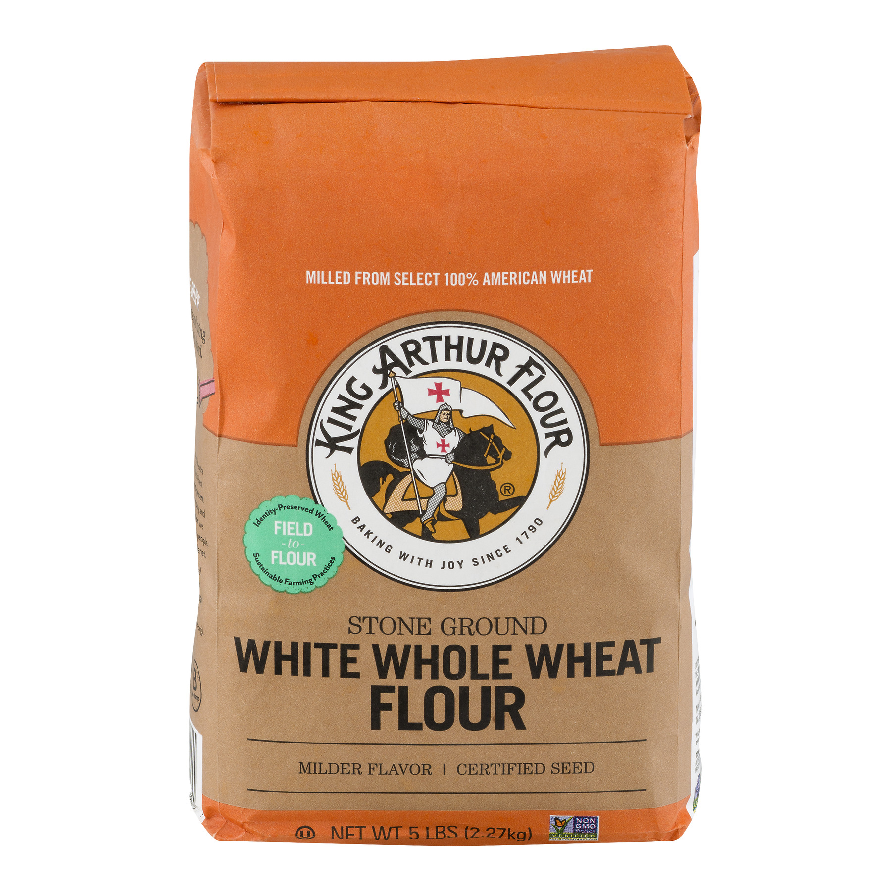 King Arthur Flour White Whole Wheat Flour 5 lb. Bag