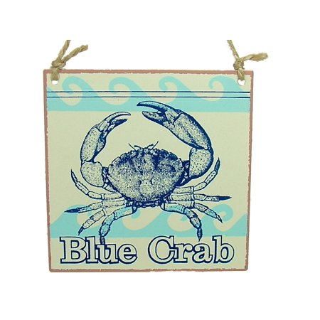 Blue Soft Shell Crab Metal Vintage Seafood Food Dinner Ocean Coastal Christmas Tree Ornament By On Holiday Ship from US
