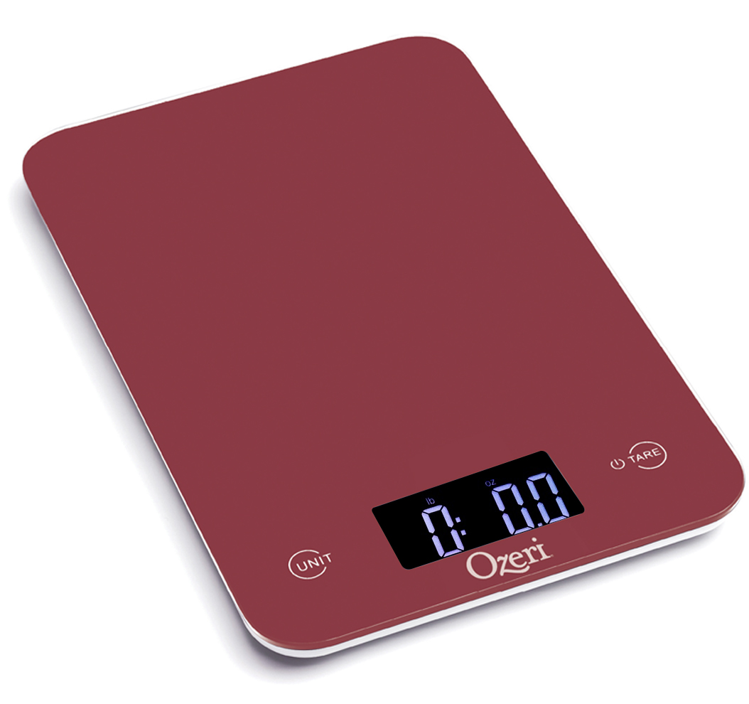 Ozeri Touch Professional Digital Kitchen Scale (12 lbs Edition), Tempered Glass