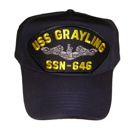 USS GRAYLING SSN-646 with Enlisted Silver Dolphins HAT - Veteran Owned Business