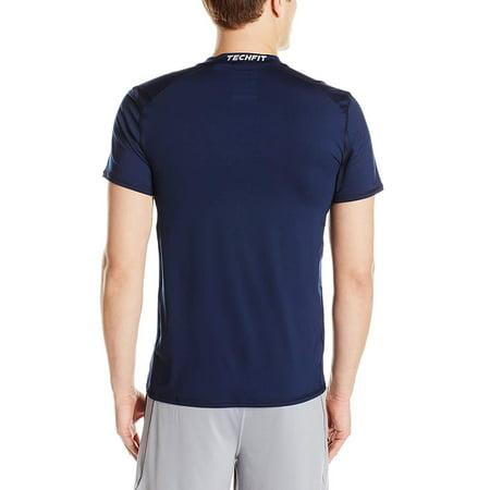 Adidas Men's TechFit Baselayer Compression Short Sleeve Top, Color Options Adidas 3 Stripes Dazzle Short