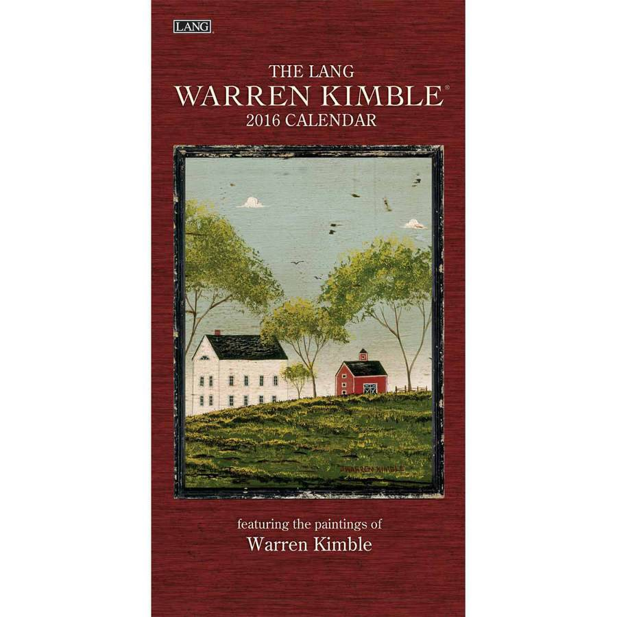 Lang Warren Kimble 2016 Vertical Wall Calendar