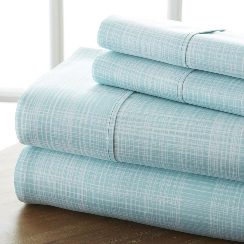Noble Linens Ultra Soft 4 Piece Thatch Bed Sheet Set