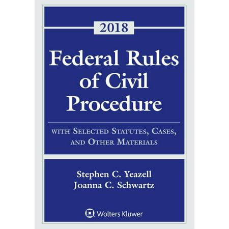 Federal Rules of Civil Procedure 2018