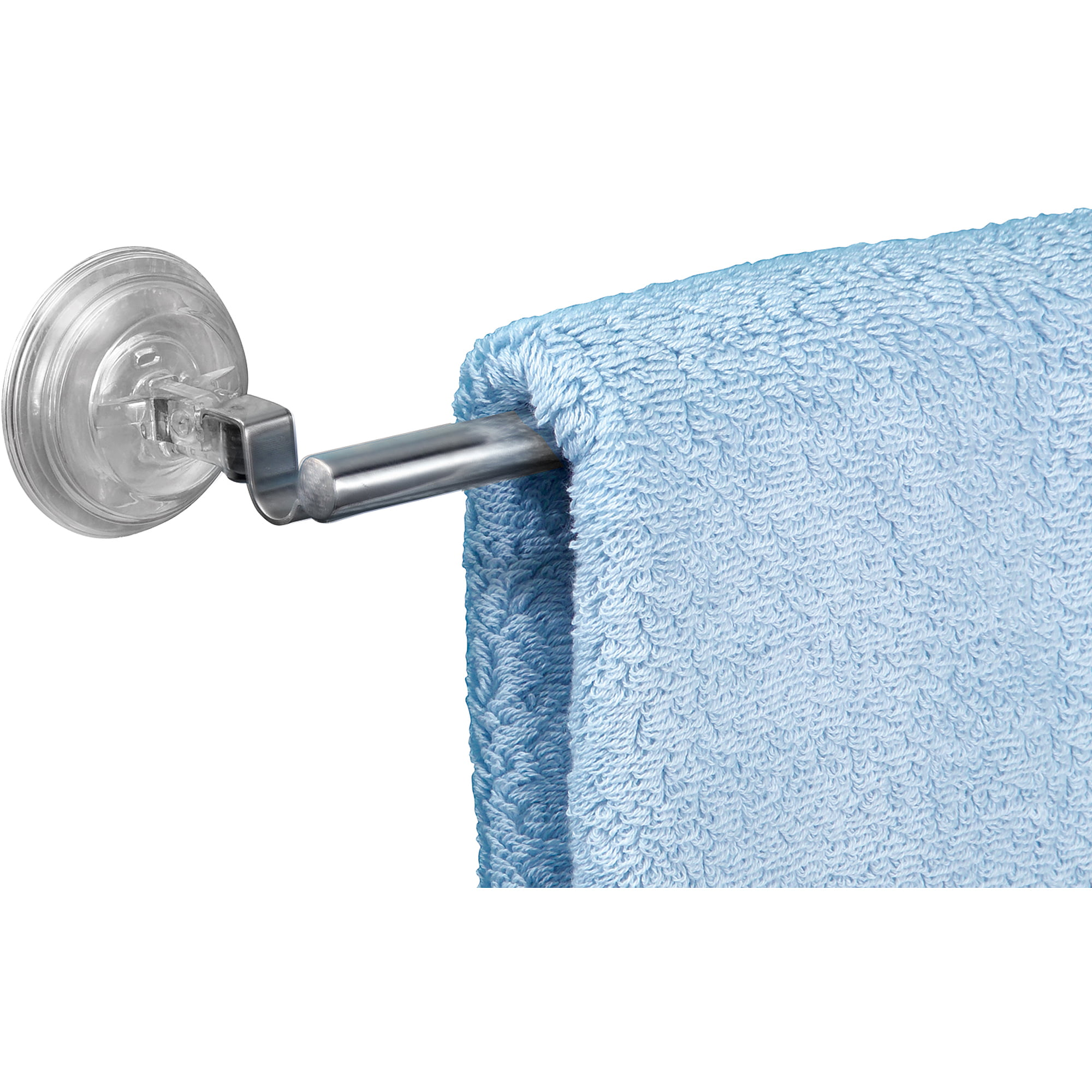 InterDesign Reo Power Lock Suction Towel Bar for Bathroom ...