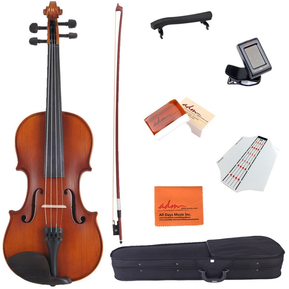 ADM 1 4 Size Handcrafted Solid Wood Student Acoustic Violin Starter Kit for Kids(with Hard... by Adm