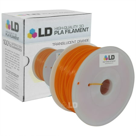 LD Translucent Orange 1.75mm 1kg PLA 3D Printer (Best Products For Sebaceous Filaments)