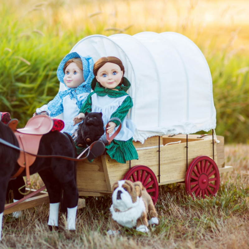 The Queen S Treasures Little House On The Prairie 18 Inch Doll Covered Wagon Winter Sleigh Conversion Kit Fits 2 Dolls Compatible With American Girl Dolls Walmart Com Walmart Com