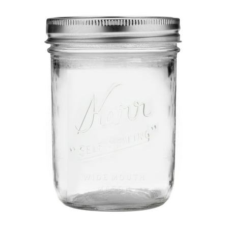 Kerr Glass Mason Jar w/Lid & Band, Wide Mouth, 16 Ounces, 12 Count](Buy Mason Jars In Bulk)