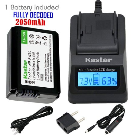 Kastar Fast Charger and NP FW50 Battery 1X for Sony BC VW1 BC TRW Alpha 7 a7 a7R a3000 a5000 a6000 NEX 3 3N - Walmart.com