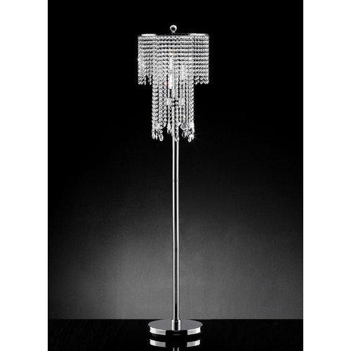 OK Lighting Rain Crystal 63'' Floor Lamp