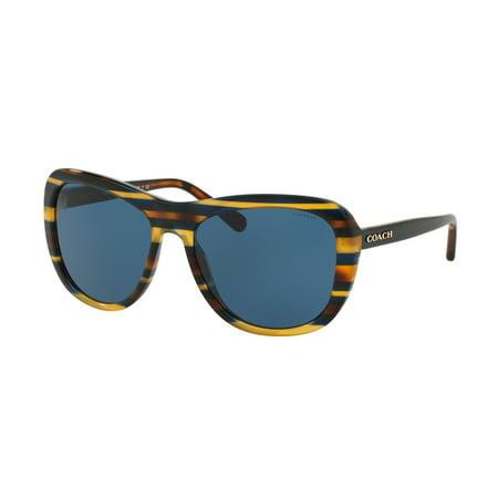 Coach 0HC8202 Full Rim Square Womens Sunglasses - Size 57 (Blue Solid) ()