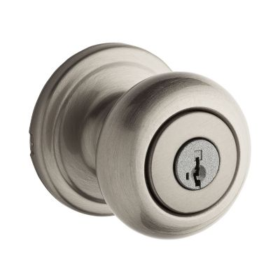Kwikset Juno Keyed Entry Knob featuring SmartKey®,Satin Nickel, 97402-736