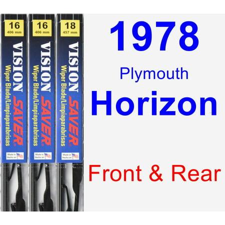 1978 Plymouth Horizon Wiper Blade Set/Kit (Front & Rear) (3 Blades) - Vision Saver ()