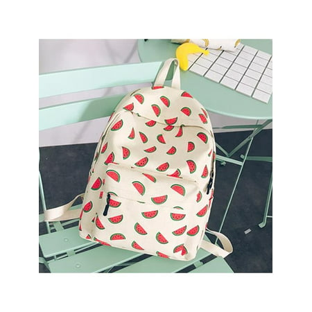 d78521ceb Women 3D Print Pineapple Fruits Backpack Canvas Backpack School Book Bag  Travel Backpack