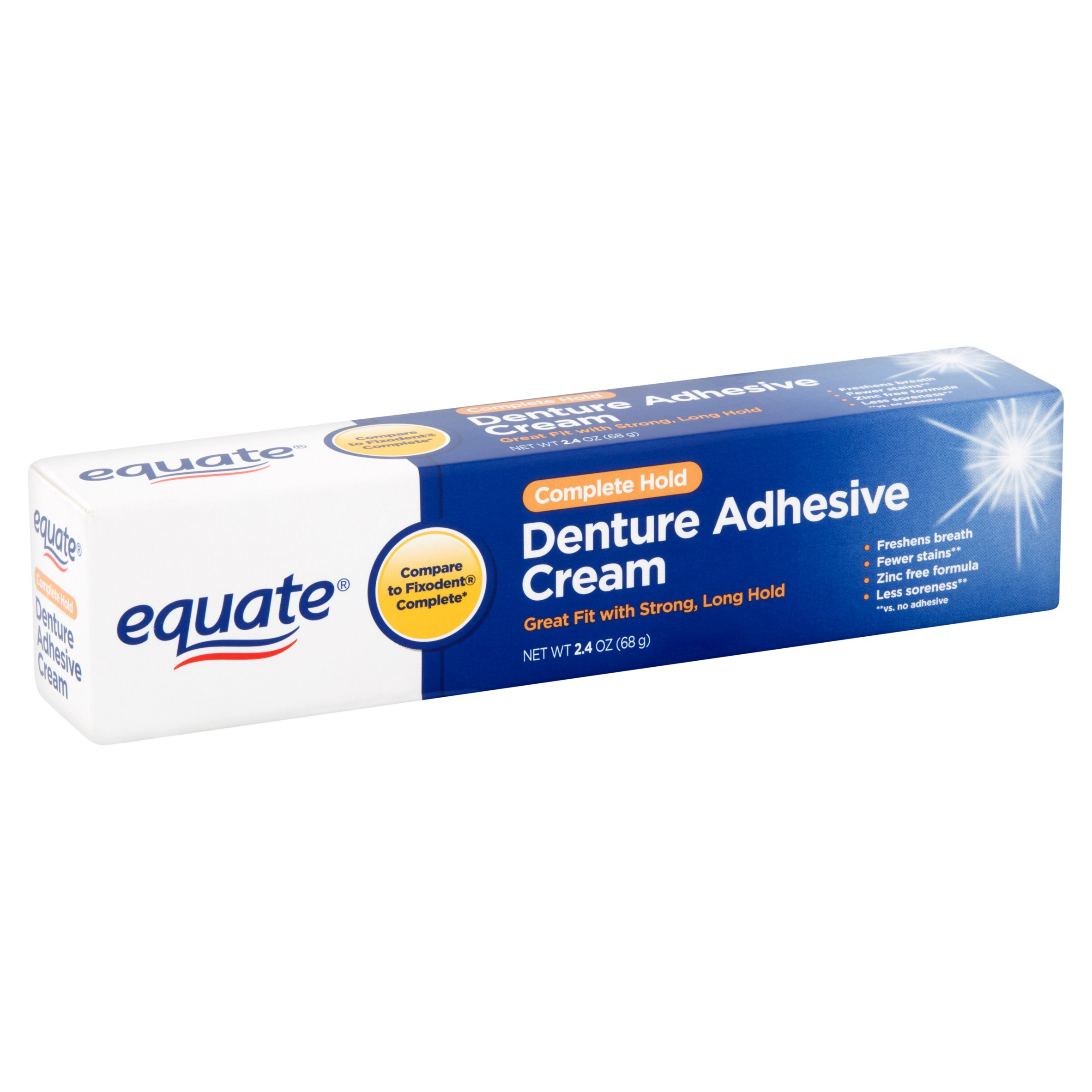 Cushion grip denture adhesive walmart - Equate Complete Hold Denture Adhesive Cream 2 4 Oz