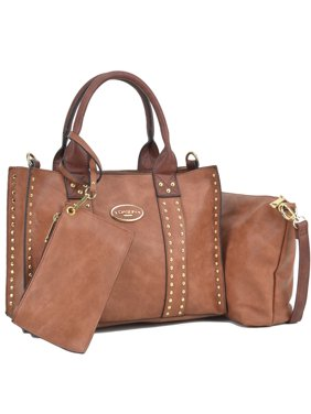 0ce5ed0fa3f5 Product Image Dasein Middle Studded Tote with Detachable Organizer Bag   Pouch and Matching Wristlet