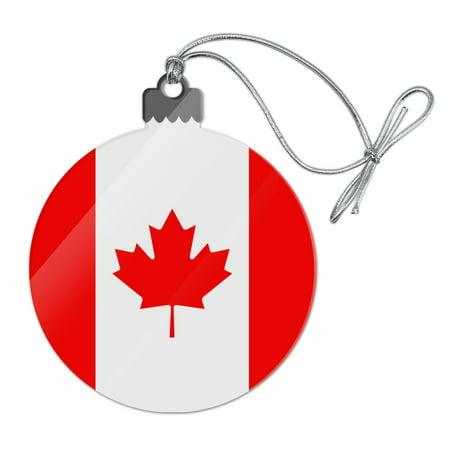 Canada Country Flag Acrylic Christmas Tree Holiday (Canadian Ornaments)
