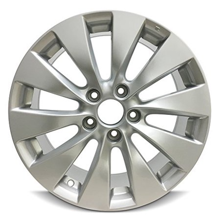 New 17x7.5 Honda Accord (13-15) 5 Lug 10 Spoke Alloy Rim Silver Full Size Replacement Alloy Wheel
