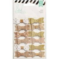 "Heidi Swapp Fabric Bows, .5"" x 1.5"", 12pk"
