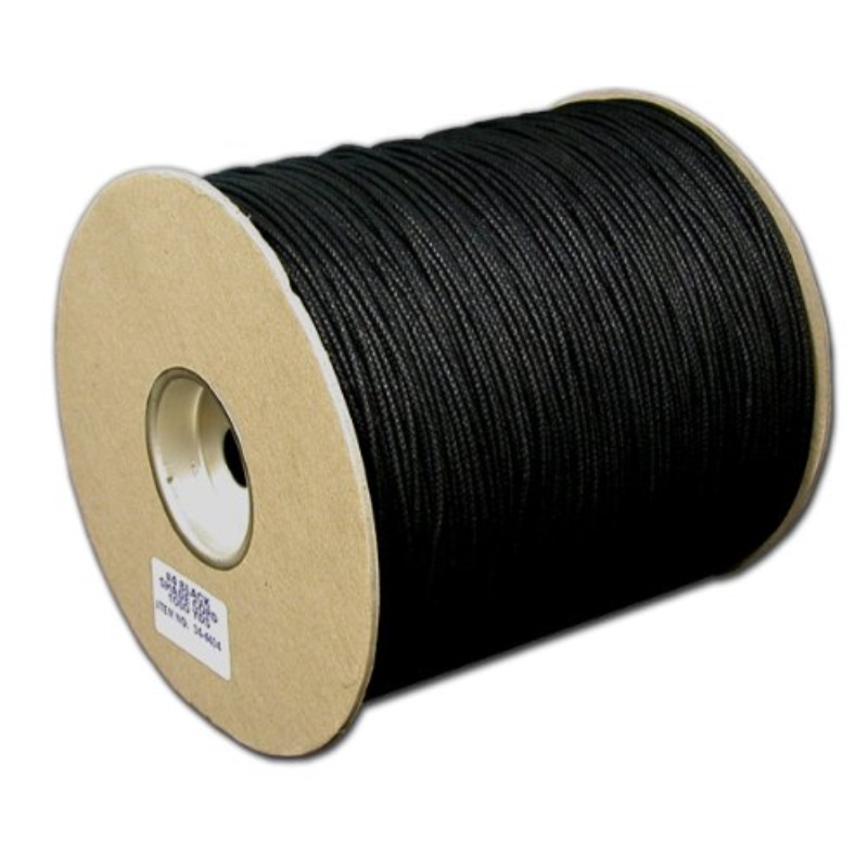 T.W Evans Cordage 34-4404-6 Number-4 1//8-Inch Black Cotton Shade Cord 200-Yard Spool